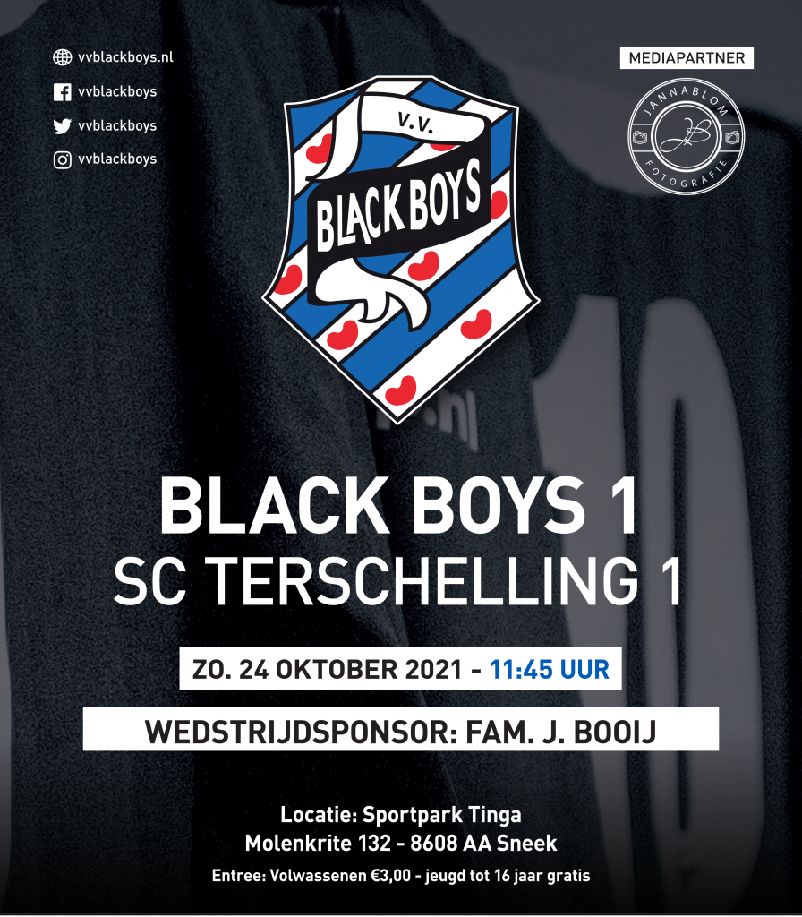 Black Boys – Terschelling zondag 24-10-2021  AANVANG 11:45 uur